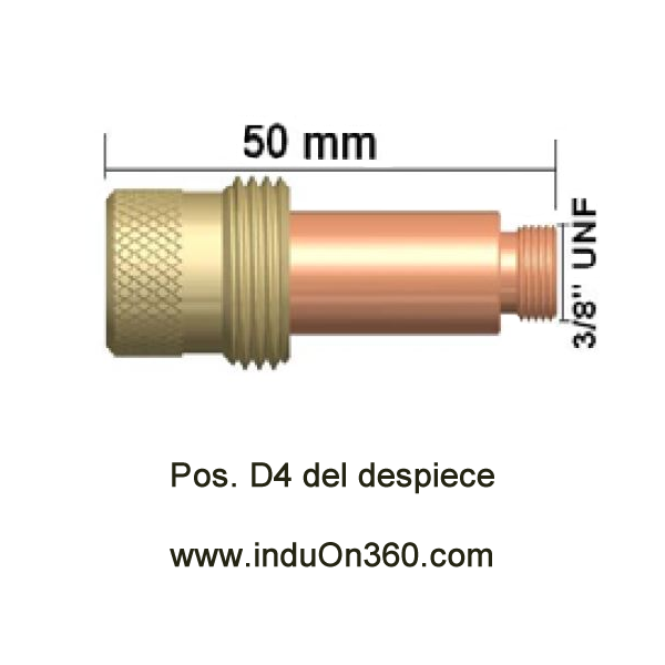 Difusor Gas Lens estándar. Antorcha TIG PRO 17/18/26. Diámetro 2,0 mm.