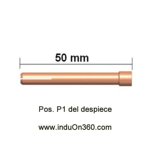 Porta-Tungstenos estándar. Antorcha TIG PRO 17/18/26. Diámetro 1,0 mm.