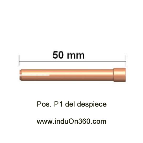 Porta-Tungstenos estándar. Antorcha TIG PRO 17/18/26. Diámetro 2,4 mm.