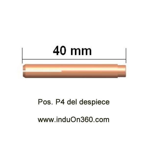 Porta-Tungstenos Gas Lens. Antorcha TIG PRO 9/20. Diámetro 1,6 mm.