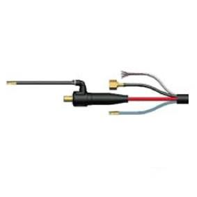 Conexión Antorcha TIG refrigerada por Agua. Conector DINSE de 13 mm. con tuerca Gas hembra de 3/8