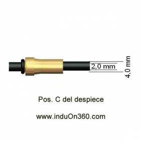 Sirga de Polyamida 4m. 0,6-0,9 mm. Para Antorcha MIG PRO 240/250/360/240W