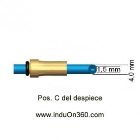 Sirga de Teflon 4m 0,6-0,9mm. Para antorcha MIG PRO 150/240/250/360 A