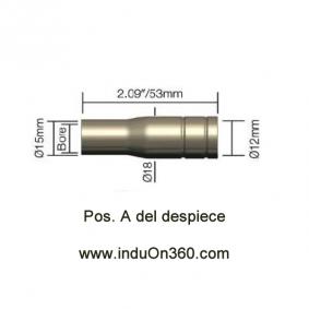 Tobera Boquilla Botella Antorcha MIG PRO 150A/140A