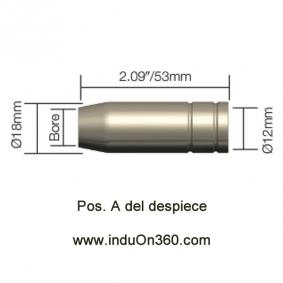 Tobera Boquilla Cónica Antorcha MIG PRO 150A/140A