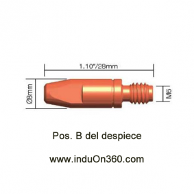 Punta de contacto 0,8mm. M6 CuCrZr Para Antorcha MIG PRO 240/250/360/240W