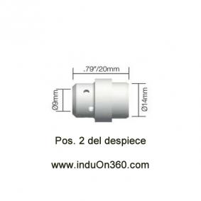 Difusor Negro para Antorcha MIG PRO 240 Aire y Agua