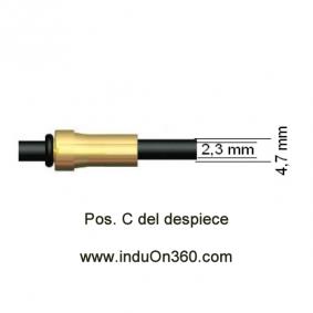 Sirga de Polyamida 4m. 1,0-1,2mm. Para Antorcha MIG PRO 150/240/250/360