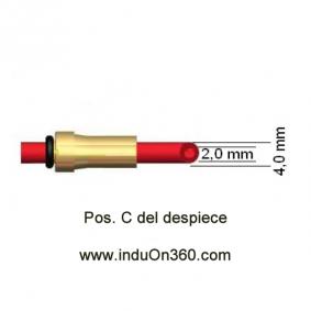 Sirga de Teflon 4m. 1,0-1,2mm. Para Antorcha MIG PRO 240/250/360/240W