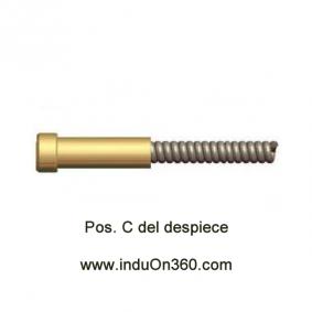 Sirga Acero 4m. 1,2-1,6mm. Para Antorcha MIG PRO 240W/400W/500W agua