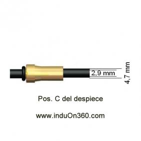 Sirga de Polyamida 4m. 1,2-1,6mm. Para Antorcha MIG PRO 360/400 aire