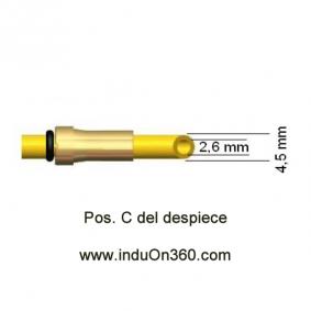 Sirga de Teflon 4m. 1,2-1,6mm. Para Antorcha MIG PRO 240/250/360/240W