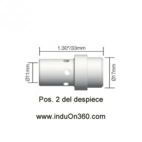 Difusor Blanco para antorcha MIG PRO 360A