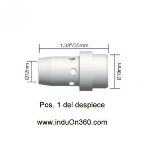 Difusor Cerámico para Antorcha MIG PRO 400A aire
