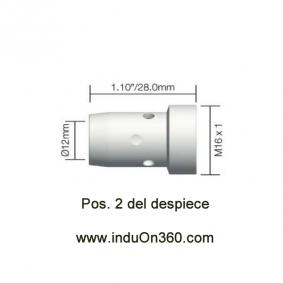 Difusor Blanco para Antorcha MIG PRO 400W/500W agua