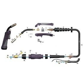Cable coaxial X4mt. Para antorcha MIG PRO 150A tipo SB de Binzel
