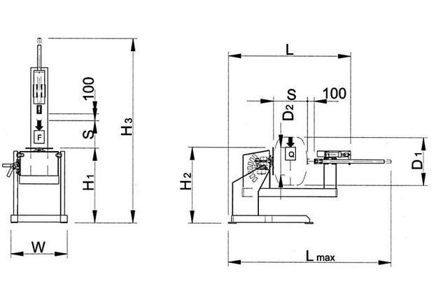 Posicionador Giratorio con contrapunto para soldadura de bidoness